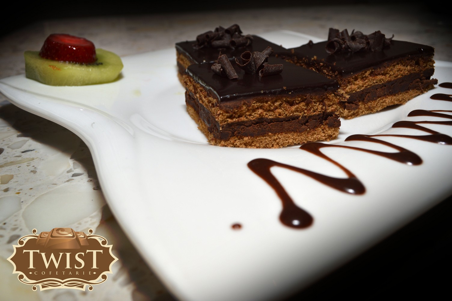 Miniamandine cu ciocolata